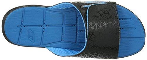 Skechers Mens Gobionic S Slide Svart / Blå