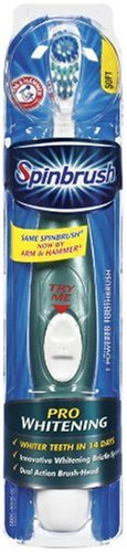 - Spinbrush Pro Ultra White Powdered Toothbrush, Soft (Pack of 2)