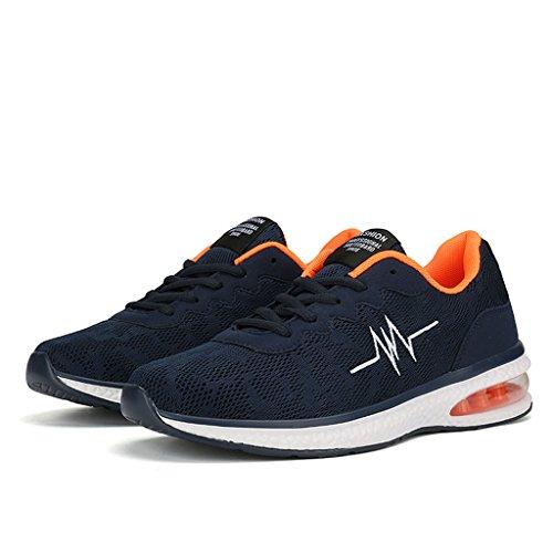 ZanYeing Herren Sportschuhe Ultra Leichte Straßenlaufschuhe Rutschfeste Sneakers Junge Schuhe mit Dämpfung Sommerschuhe 39-47 Blau