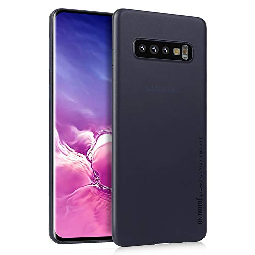 memumi 0.3mm Case for Samsung Galaxy S10 Plus Slim Case Matte Finish Coating Cover Compatible with Samsung Galaxy S10 Plus Phone Case [Anti Fingerprint] Matte Translucent Blue