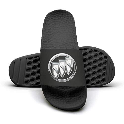 Printed Non-slip slippers slide flip flop sandals Buick-symbol-white-lobo-summer stylish for mens