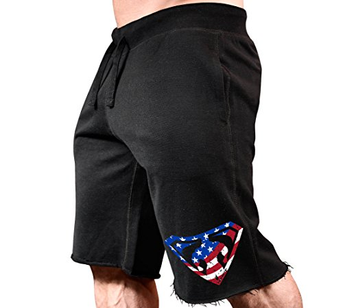 MonstaMan Muscle Symbol 238-SweatShorts Black/USA XL
