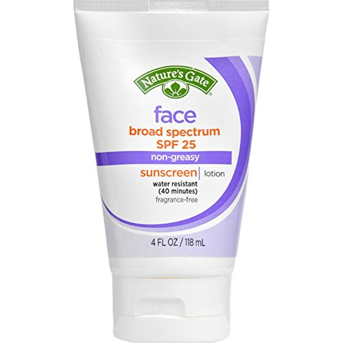 Natures Gate Sun Care (Natures Gate - Nature'S Gate Face Block Spf 25 Sunscreen Fragrance Free - 4 Fl Oz - Pack Of 1)