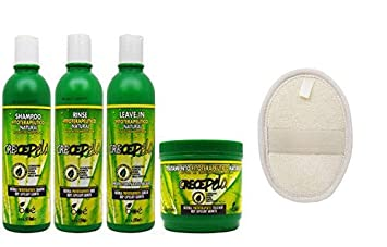 BOE Crece Pelo Natural HairCare Set (Shampoo, Rinse, Leave-In, Treatment