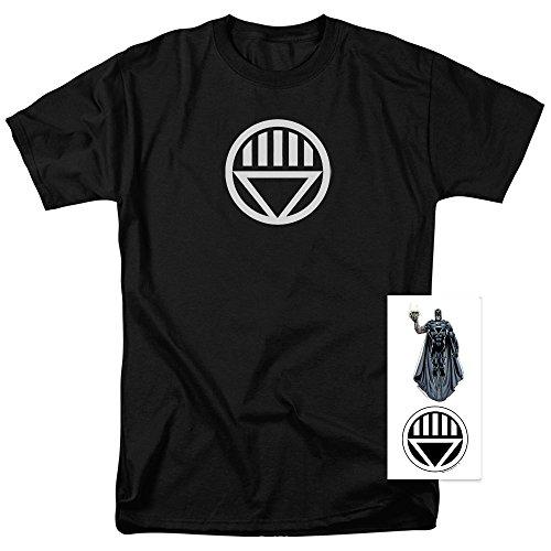 Exclusive Black T-shirt (Popfunk Green Lantern Black Lantern Corps Logo T Shirt & Exclusive Stickers (X-Large))