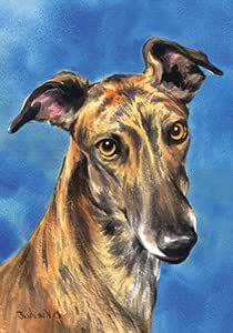 Greyhound - Barbara Van Vliet Large Flag