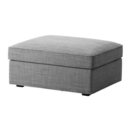 IKEA KIVIK – Cover for Ottoman with Storage Isunda Gray cover only