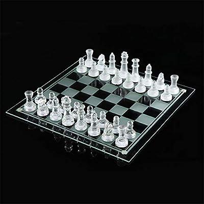 2525cm K9 Glass Chess Medium Wrestling Packaging International Chess Game International Chess Set