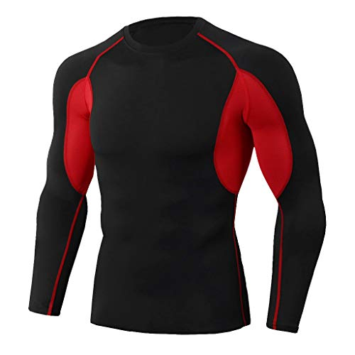 iHPH7 T-Shirts Men Cool Dry Athletic Compression Long Sleeve Baselayer Workout T-Shirts Fitness Sports Running Yoga Athletic Shirt Top Blouse M 2- -