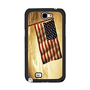 Antique American Flag Design Phone Cases Samsung Galaxy Note 2 N7100 Case Cover Vintage Usa National Flag Print Cell Phone Protector