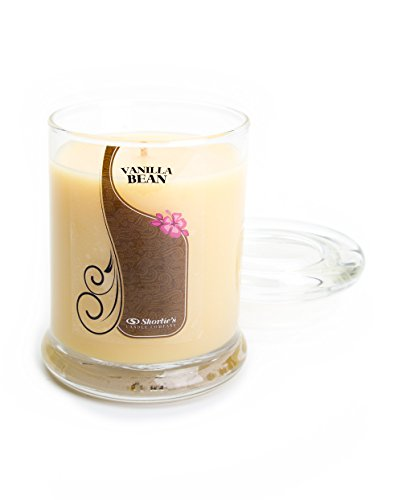 Vanilla Bean Candle - Small Beige 6.5 Oz. Highly Scented Jar Candle - Made with Natural Oils - Bakery & Food Collection