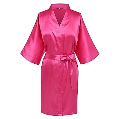 Goodmansam Women's Simplicity Stlye Bridesmaid Wedding Party Kimono Robes, Short
