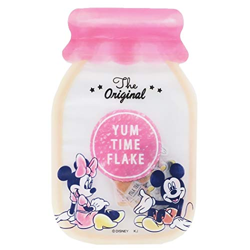 Kamio Japan Japanese Tracing Paper Disney Yum Time Seal Flake Stickers/Pack of 48 (Mickey & Minnie [ 49157 ])