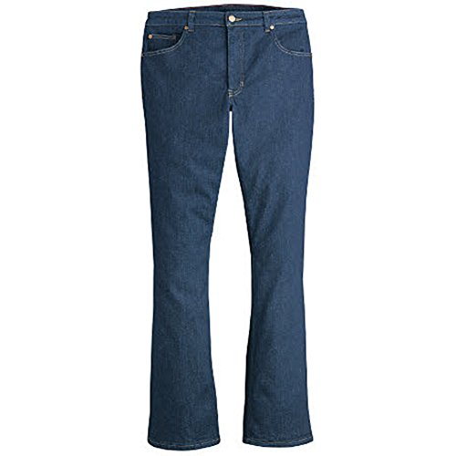 Dickies Women's Plus Size Perfect Shape Denim Jean-Bootcut Stretch, Rinsed Indigo Blue, 20WRG