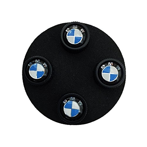 BMW Genuine Roundel Wheel Tire Valve Stem Caps Black