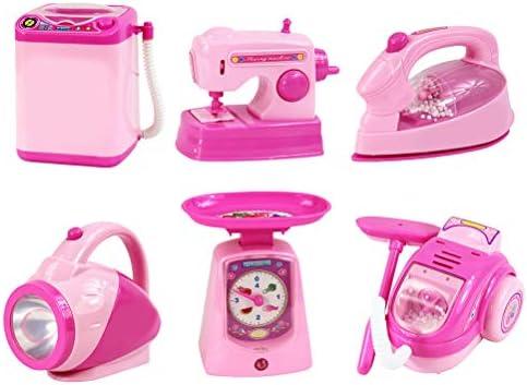 TOYANDONA 6 Pcs Juguetes electrodomesticos Lavadora máquina de Coser de vacío Plancha de Hierro imitación: Amazon.es: Hogar