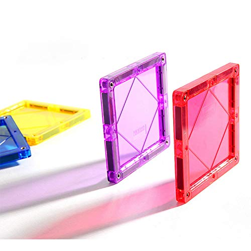 KUHU Magnetic Assembly Toy Light Magnetic Building Blocks Color Window Magnetic Piece Children Assembled Toys by KUHU (Image #1)