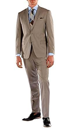 34S Ferrecci HART Brown Slim Fit 2pc Suit