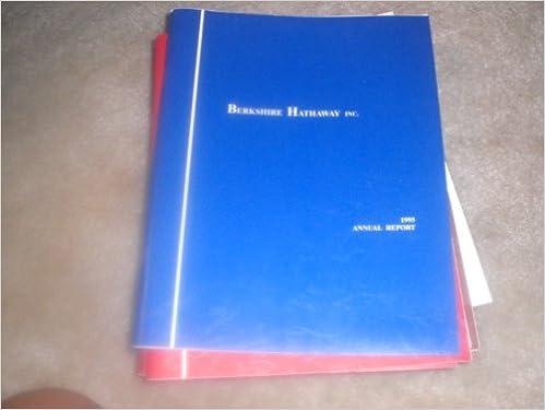 Read online Berkshire Hathaway Annual Report 1995 PDF, azw (Kindle), ePub, doc, mobi