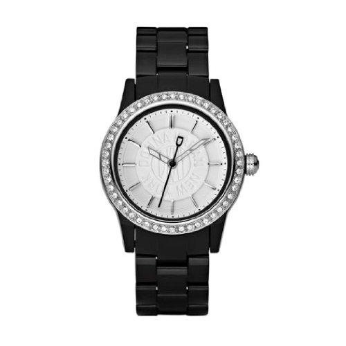 DKNY NY8012 - Reloj analógico de cuarzo para mujer, correa de plástico color negro: Amazon.es: Relojes