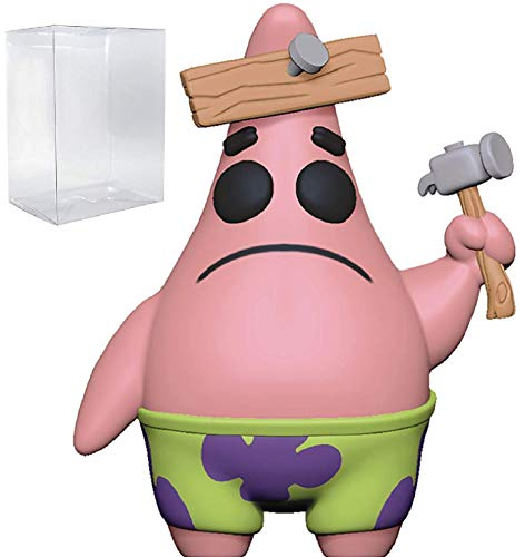 (Funko Pop! Animation: Spongebob Squarepants - Patrick Star with Board Pop! Vinyl Figure (Includes Compatible Pop Box Protector Case))