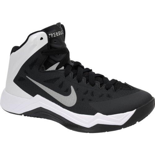 Chaussure De Basket-ball Pour Femme Hyper Rapide De Nike (a095, Noir / Blanc)