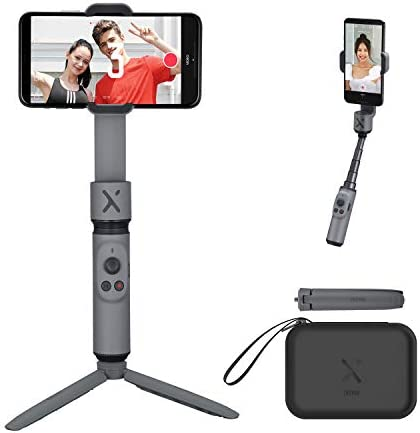 Zhiyun Smooth X [Official] Foldable Gimbal Stabilizer for Smartphone, Handheld Selfie Stick with Object Tracking for Vlog & YouTube, for iPhone 11 Pro Max/6S and Andriod Phone (Gray Combo)