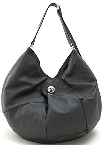 Grey Bucket Dark Panel Turnlock Layered Lush Shoulder Leather 8FA74qHAc0