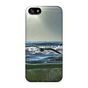 Tpu Shockproof/dirt-proof Sea Gulls And Waves Cover Case For Iphone(5/5s)