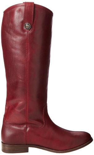 FRYE Womens Melissa Button Boot Bordeaux Wide Calf Smooth Vintage Leather-77167 152Osan