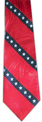 - Diagonal Flag Stars and Stripes Novelty Necktie