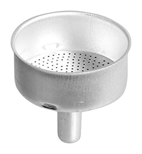 Home Trichter für Kaffeemaschine Moka 1Tasse, Aluminium, Silber, 9x 5x 17cm