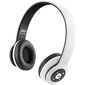 JAM Transit Wireless Bluetooth On-Ear Headphones, 30ft Range, Superior Bass, Big Sound, No Cords, Rechargeable Battery, Comfortable Fit, Perfect for Travel, ...