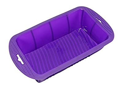 Bakerpan Silicone Loaf Pan, Loaf Mold, Bread Pan, Cake Baking Mold, 7 Inch w/ Handle
