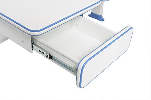 ApexDesk Little Soleil Dx 43'' Children's Height Adjustable Study Desk W/ Integrated Shelf & Drawer (Blue), Denim Blue by ApexDesk (Image #3)