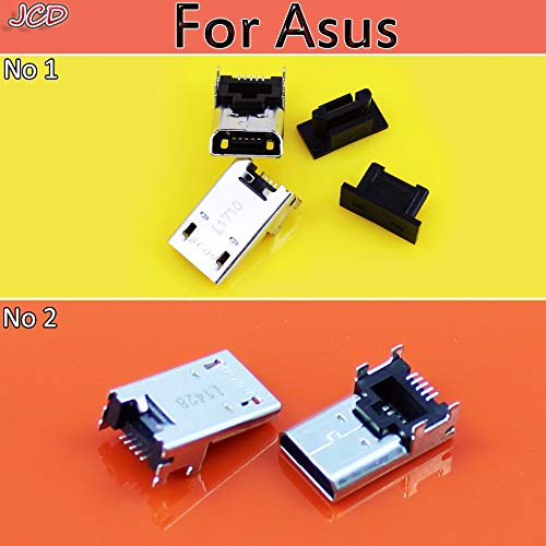 (Gimax JCD New Micro USB Jack for Asus DC Charging Socket Port Connector For Asus Transformer Book T100 T100T T100TA K004 T300 T300LA - (Pins: 2 models each 1 pcs))