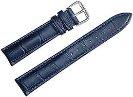 12mm Women's Dark Blue Genuine Replacement Leather Watch Band Alligator Grain 6.89inch Length