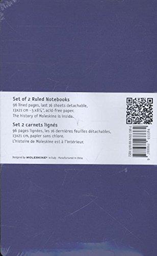 Moleskine Volant Notebook (Set of 2), Large, Ruled, Light Violet, Brilliant Violet, Soft Cover (5 x 8.25) by Moleskine (Image #2)