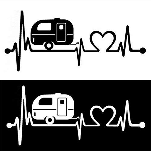 (T-JPCT Car Light Eye Sticker Car Sticker Cute Bus car Heartbeat Cardiogram car Sticker Styling Love Sticker, Green)