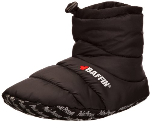 Baffin Unisex Cush Insulated Slipper Booty,Black,XX-Large (Men's 11-12 M US) by Baffin