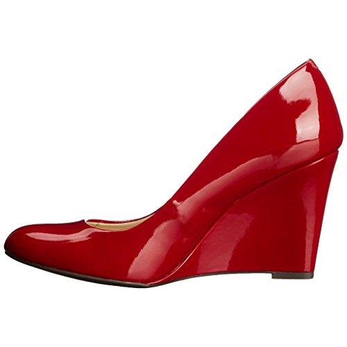MERUMOTE - Zapatos de vestir para mujer Red-Patent