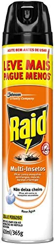 Inseticida Raid Multi-insetos Spray Base Água Leve Mais Pague Menos 420ml