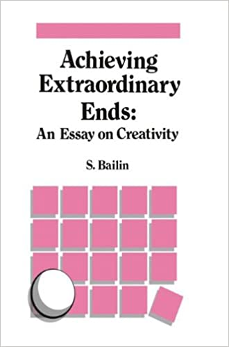 Achieving Extraordinary Ends An Essay On Creativity S Bailin  Achieving Extraordinary Ends An Essay On Creativity S Bailin   Amazoncom Books Writing Business Plan also English Language Essays  Scientific Article Writing Services