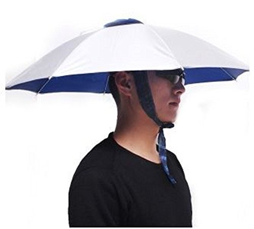 T2C Outdoor Foldable Sun Rain Umbrella Hat Cap Multifunction Fishing Camping Headwear ()