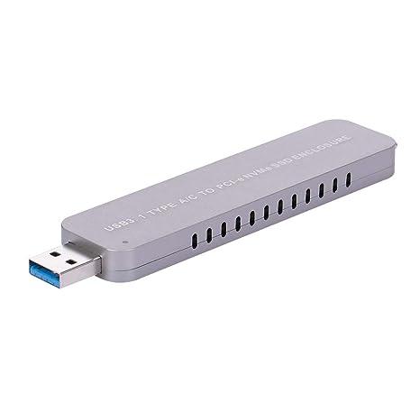 Ajcoflt USB 3.1 Tipo A/C a PCI-e NVMe M.2 SSD Carcasa Adaptador ...