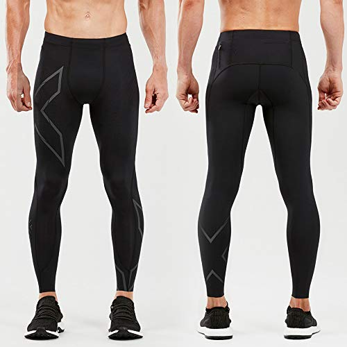 2XU MCS Run Compression Tight, Black/Black Reflective, Large by 2XU (Image #1)