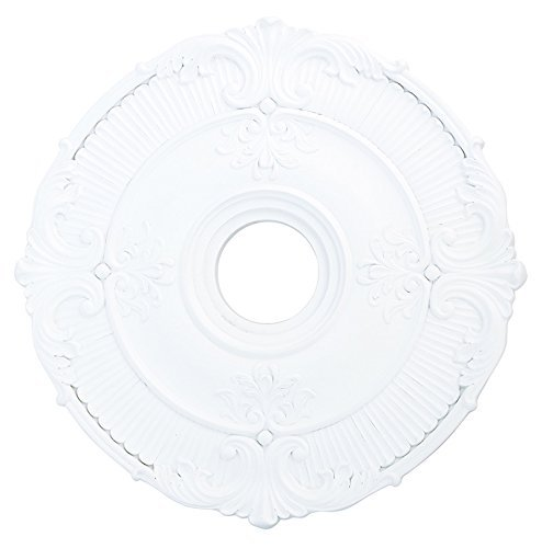 Livex Lighting 82031-03 Buckingham Ceiling Medallion, White by Livex Lighting Buckingham Ceiling Lighting