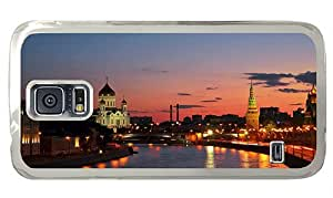 Cheap Samsung Galaxy rugged cases Russia city Moscow river sunset PC Transparent for Samsung S5,Samsung Galaxy S5,Samsung i9600