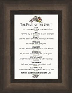 fruit of the spirit scripture galatians 522 framed art gift of christian values and