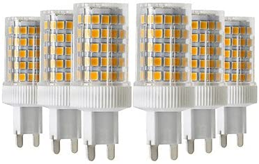 Amazon Com Lights Bulbs 6pcs 10w 900 1000 Lm G9 Led Bi Pin Lights T 86 Leds Smd 2835 Dimmable Warm White Cold White Natural White 220 240v Connector G9 Light Source Color Warm